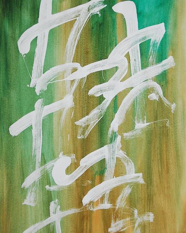 Chinese Poster featuring the painting Chinese Numbers by Lauren Luna