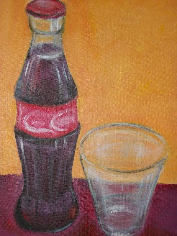 Bottles Poster featuring the painting Coke by Roxanna Finch