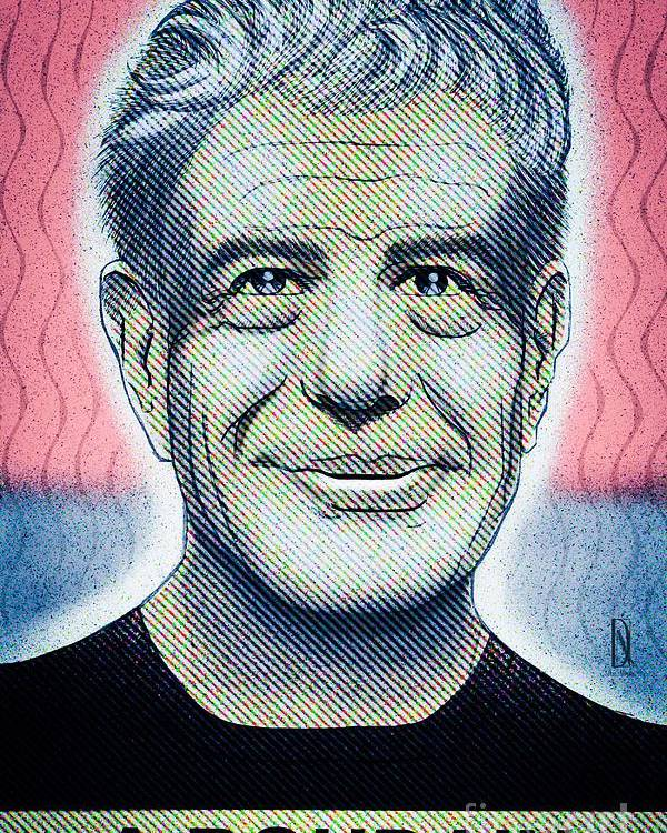 Anthonyboudain Poster featuring the digital art Commemoration Of Anthony Boudain by Don Nitram aka Martin G Macias