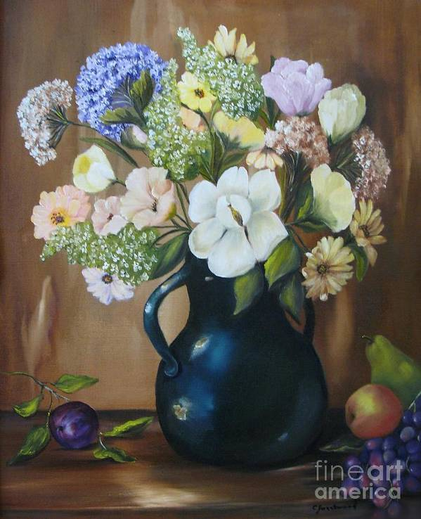 Bouquet Poster featuring the painting Garden Bouquet by Carol Sweetwood