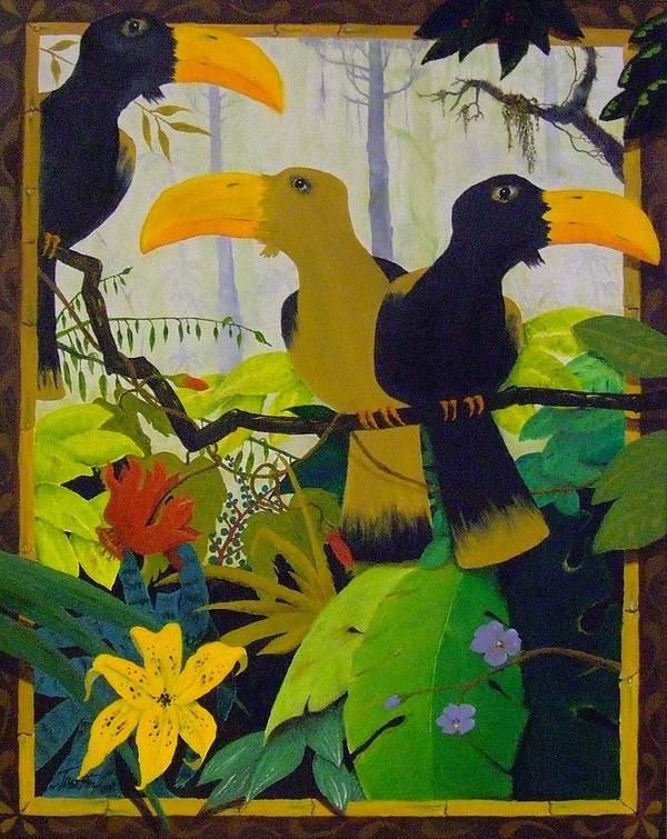 Jungle Poster featuring the painting Jungle Boogie by Patrick Trotter