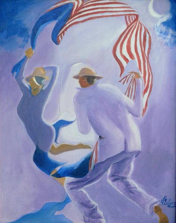 Genre Poster featuring the painting Liberty Chased By A Slave Observed By The Union by David G Wilson