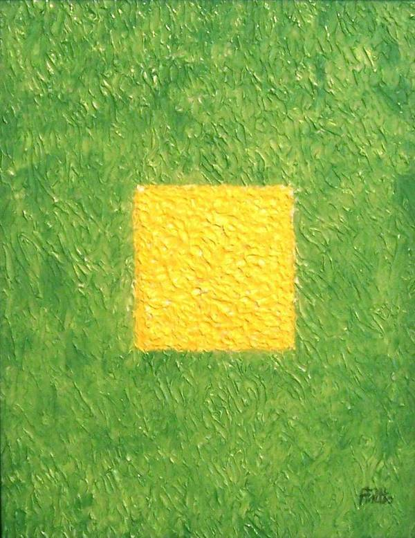 Corporate Art Poster featuring the painting My Square by Anneliese Fritts