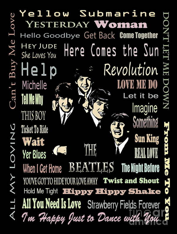 The Beatles Poster featuring the painting Revolution by Andrzej Szczerski