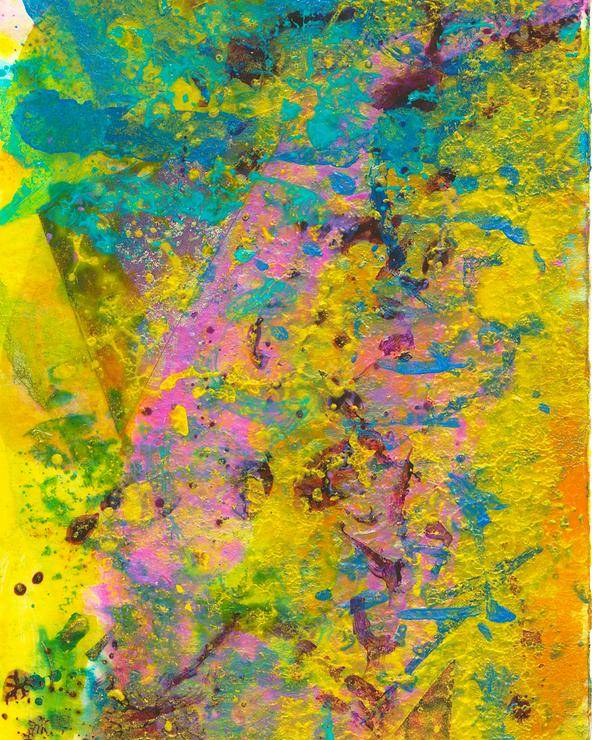 Abstract Landscapes Poster featuring the mixed media Tinge Of Pink by Jerry Hanks