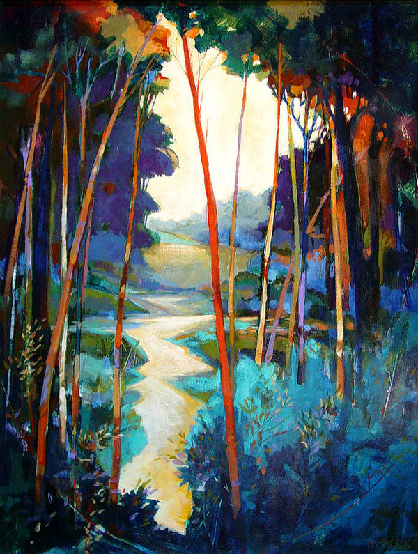 Landscape Poster featuring the painting Waterpath by Dale Witherow