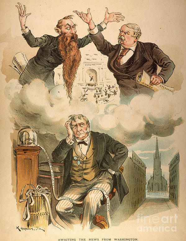 1893 Poster featuring the painting Cartoon: Panic Of 1893 by Granger