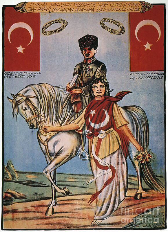 1920s Poster featuring the painting Republic Of Turkey: Poster by Granger