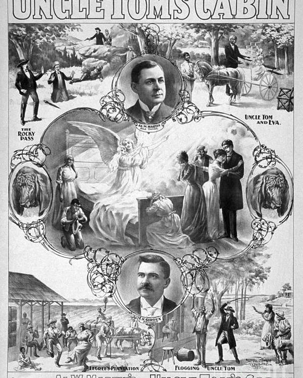 1899 Poster featuring the painting Uncle Tom's Cabin, C1899 by Granger