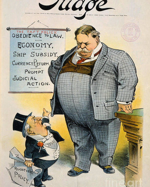 1909 Poster featuring the painting William Howard Taft by Granger