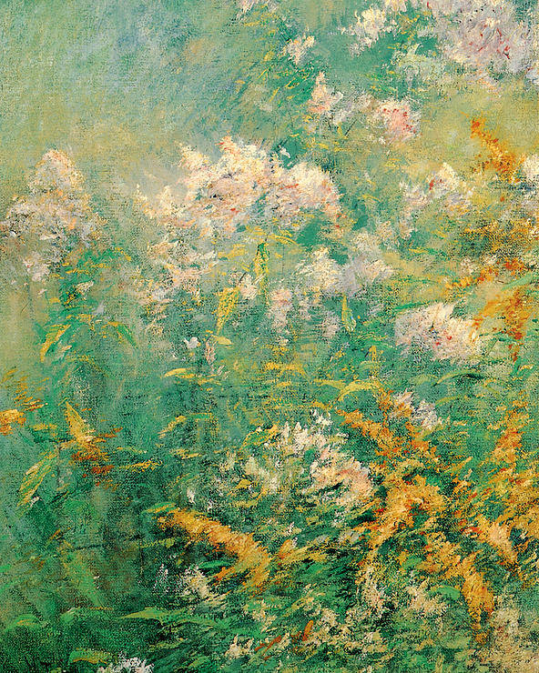 John Henry Twachtman Poster featuring the painting Meadow Flowers by John Henry Twachtman