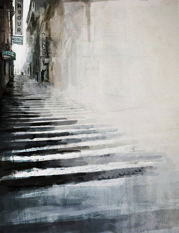 New York Poster featuring the painting 084 Ny 30th Street by Mahnoor Shah