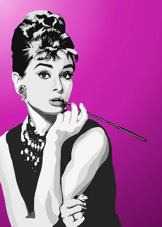 Breakfast At Tiffanys Poster featuring the painting 096. Breakfast Anyone by Tam Hazlewood
