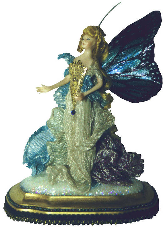 Fairy Poster featuring the ceramic art 01md076-madame Butterfly by Shirley Heyn