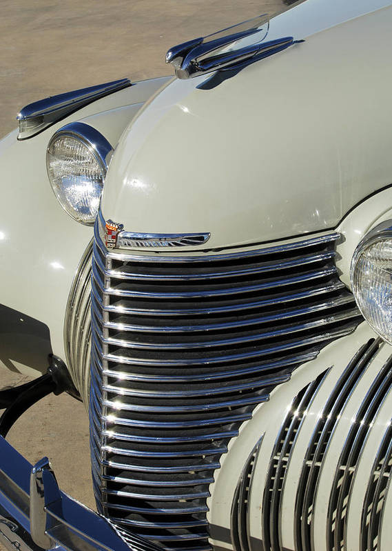1940 Cadillac 60 Special Sedan Poster featuring the photograph 1940 Cadillac 60 Special Sedan Grille by Jill Reger