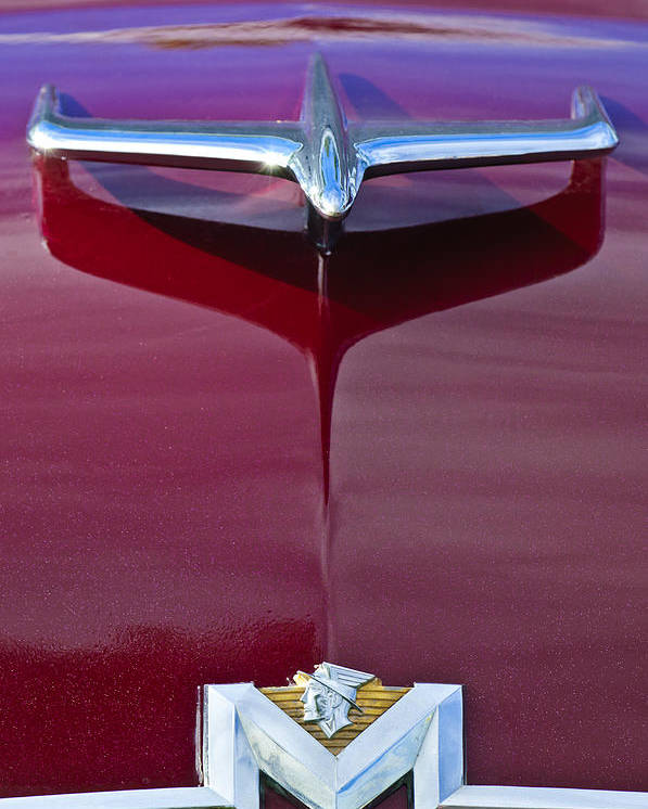 1956 Mercury Poster featuring the photograph 1956 Mercury Hood Ornament by Jill Reger