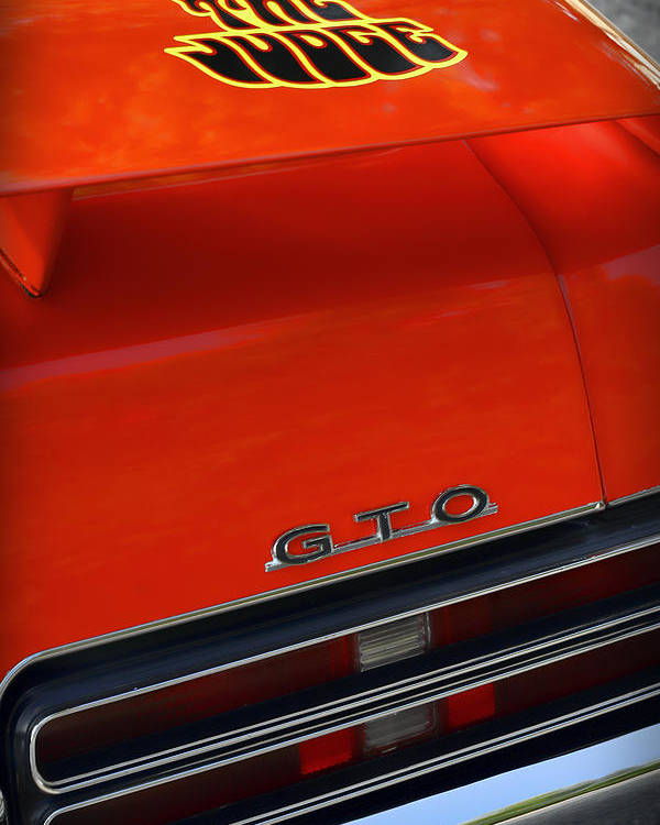 1967 Poster featuring the photograph 1969 Pontiac Gto The Judge by Gordon Dean II
