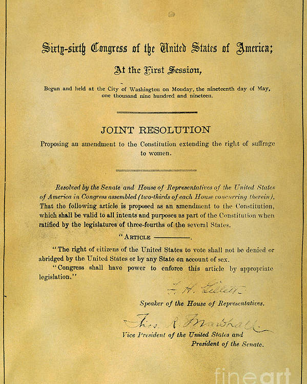 19th amendment essay Essay title: the 13th amendment in 1865 a new amendment was passed, becoming the thirteenth amendment to the constitution this amendment pertained to slavery and making it illegal to own slaves.
