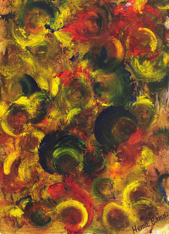 Abstract Painting Poster featuring the painting Abstract Art by Hema Rana