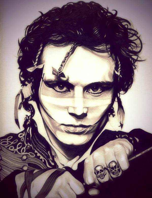 Adam Ant Poster featuring the drawing Adam Ant by Fred Larucci