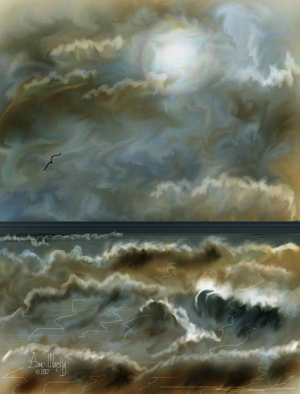 Seascape Poster featuring the painting After The Squall by Anne Norskog