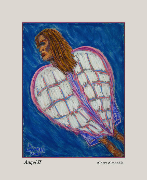 Spiritual Poster featuring the painting Angel II by Albert Almondia