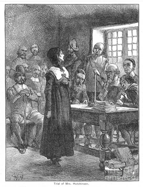 1637 Poster featuring the photograph Anne Hutchinson (1591-1643) by Granger
