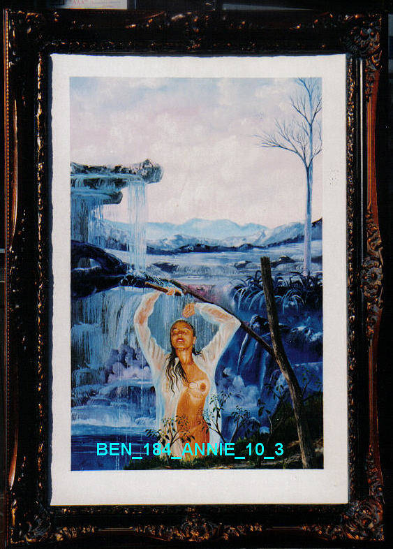 Nudes Poster featuring the painting Annie 10-3 by Benito Alonso