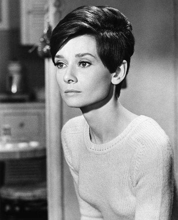 1967 Poster featuring the photograph Audrey Hepburn (1929-1993) by Granger