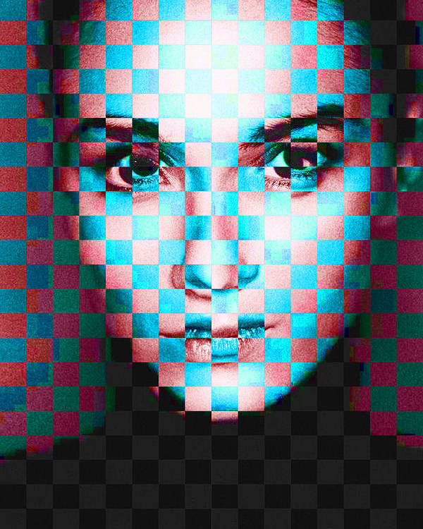 Pixels Poster featuring the painting Good Pixels by Maciej Mackiewicz