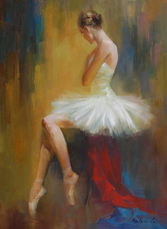 Figuratives Poster featuring the painting Ballerina E by Kelvin Lei