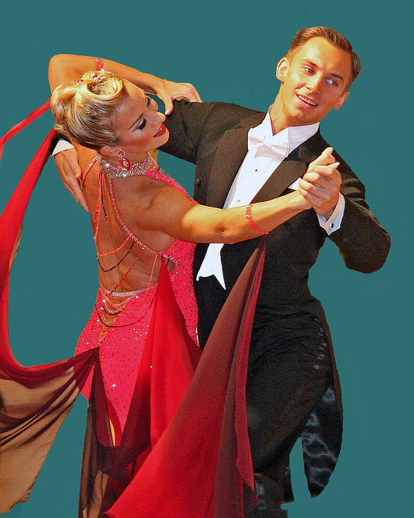 Ballroom Dancers Poster featuring the photograph Ballroom Dancers by Larry Linton