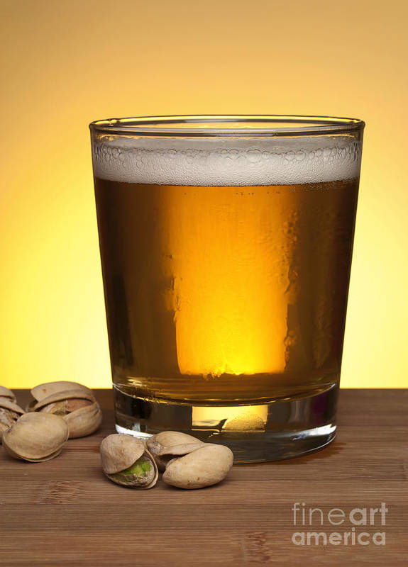 Beer Poster featuring the photograph Beer In Glass by Blink Images