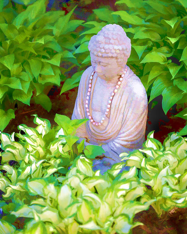 Brattleboro Vermont Spring Poster featuring the photograph Buddha In The Garden by Tom Singleton