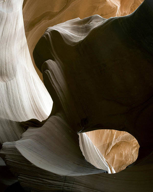 Abstract Poster featuring the photograph Canyon Sandstone Abstract by Mike Irwin
