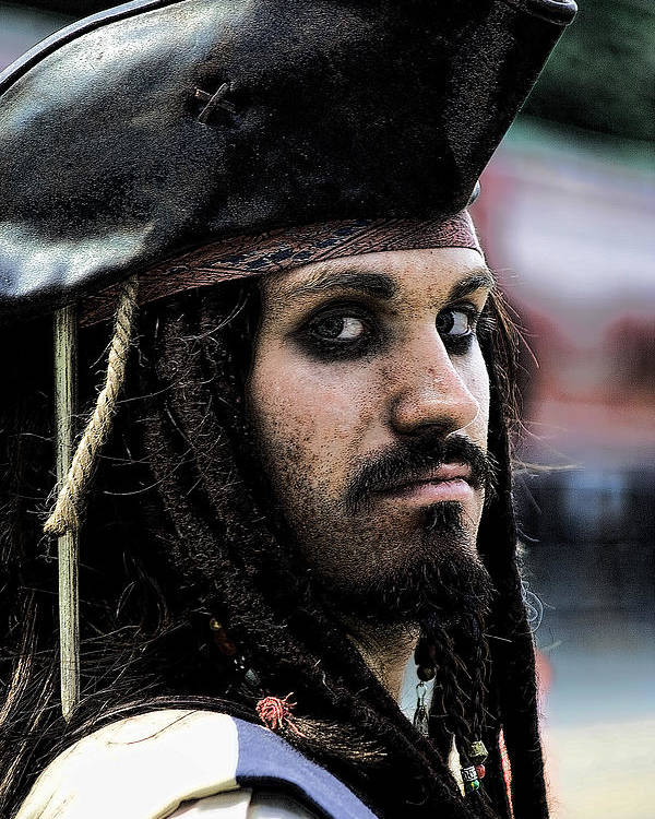 Pirates Poster featuring the photograph Captain Jack by David Patterson