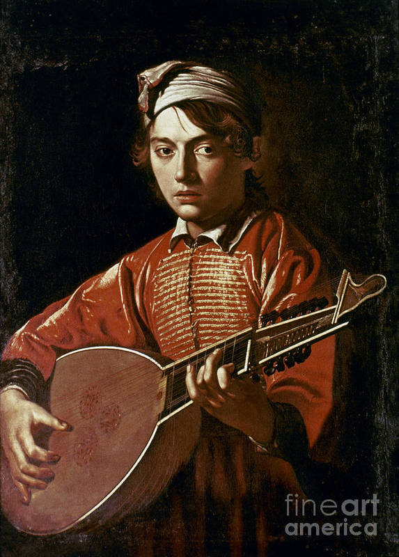 1596 Poster featuring the photograph Caravaggio: Luteplayer by Granger