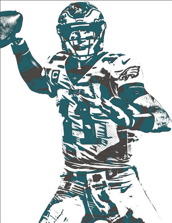 Carson Wentz Philadelphia Eagles Pixel Art 5 Poster