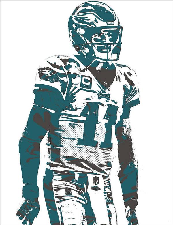 bcc503f4 Carson Wentz Philadelphia Eagles Pixel Art 6 Poster