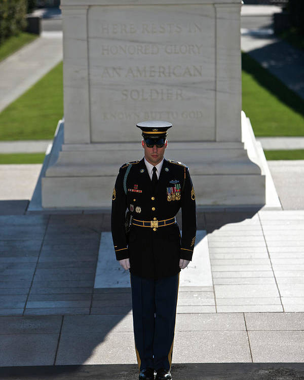 Vertical Poster featuring the photograph Changing Of Guard At Arlington National by Terry Moore