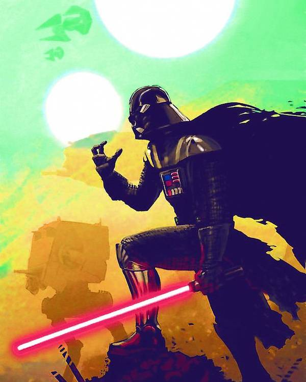 Star Wars Trooper Poster featuring the digital art Collection Star Wars Poster by Larry Jones