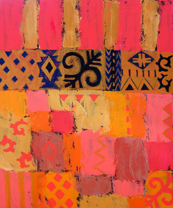 Abstract Poster featuring the painting Composition 1 by Aliza Souleyeva-Alexander