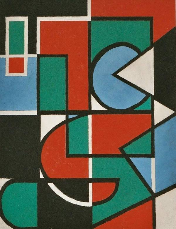 Abstract Poster featuring the painting Concinnity Rouge by Nicholas Martori