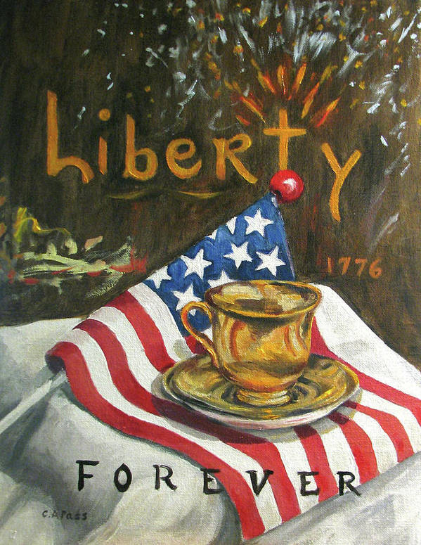Patriotism Poster featuring the painting Contemplating Liberty by Cheryl Pass