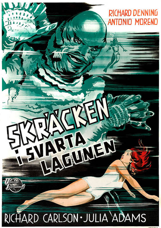 1950s Poster Art Poster featuring the photograph Creature From The Black Lagoon, Aka by Everett