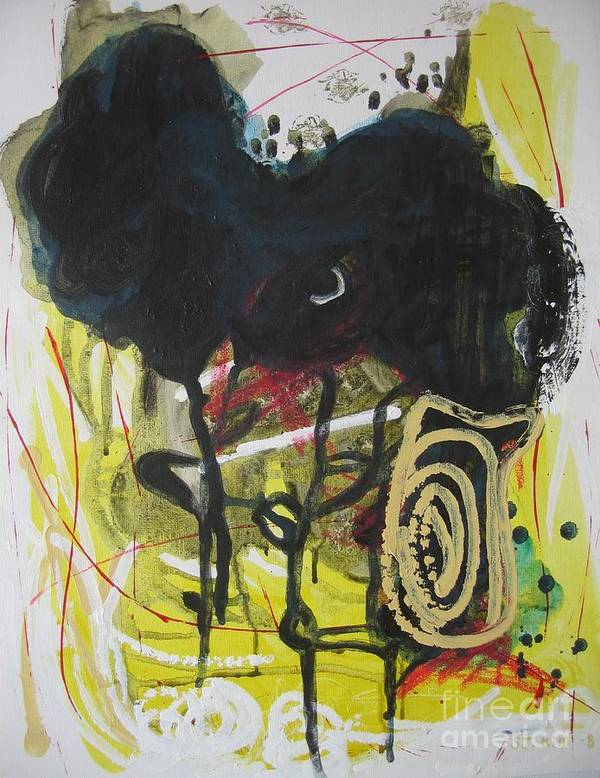 Abstract Paintings Poster featuring the painting Crescent2 by Seon-Jeong Kim
