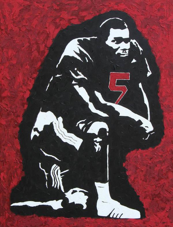 Darren Mcfadden Poster featuring the painting D-mac by Amy Parker
