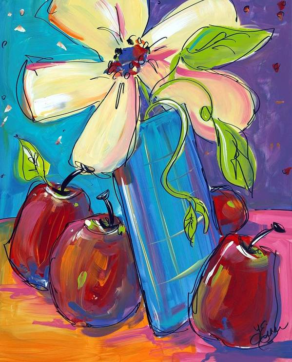 Flowers Poster featuring the painting Dance With Me by Terri Einer