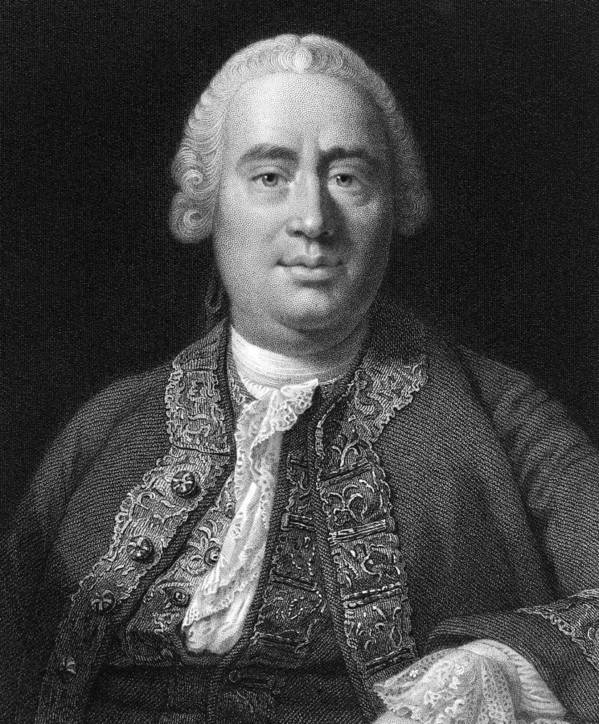 1700s Poster featuring the photograph David Hume, Scottish Philosopher by Middle Temple Library