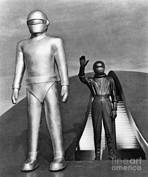 1952 Poster featuring the photograph Day The Earth Stood Still by Granger